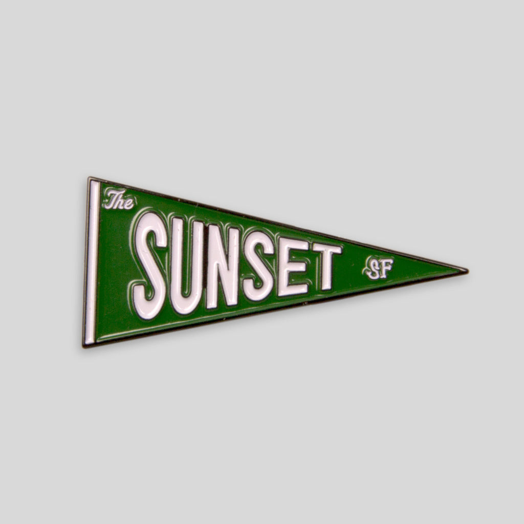 Upper Playground - The Sunset Pennant Pin
