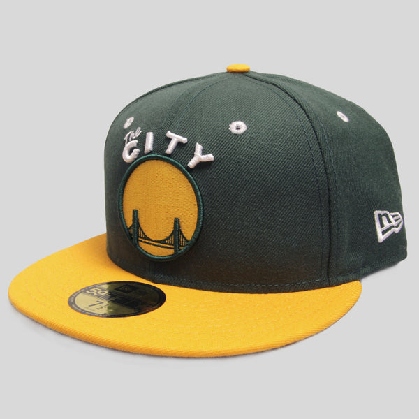new style 895d5 36a43 Upper Playground - Lux - THE CITY New Era Fitted Cap in Green Gold