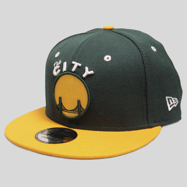 Upper Playground - Lux - THE CITY New Era Snapback in Green/Gold