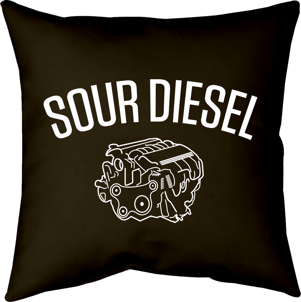 MWW - Sour Diesel Pillow Cover by Upper Playground