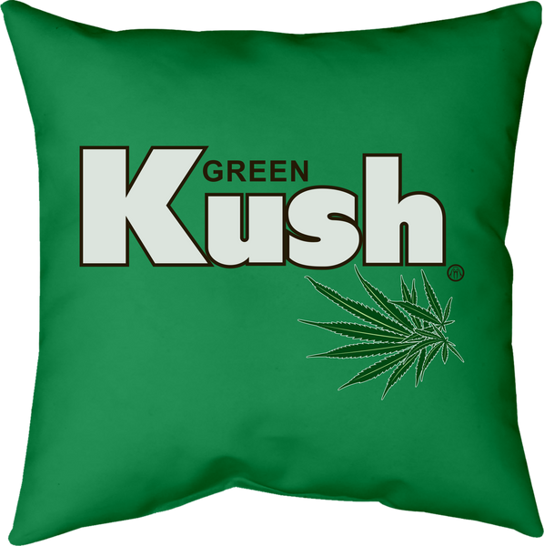 MWW - Green Kush Pillow by Upper Playground
