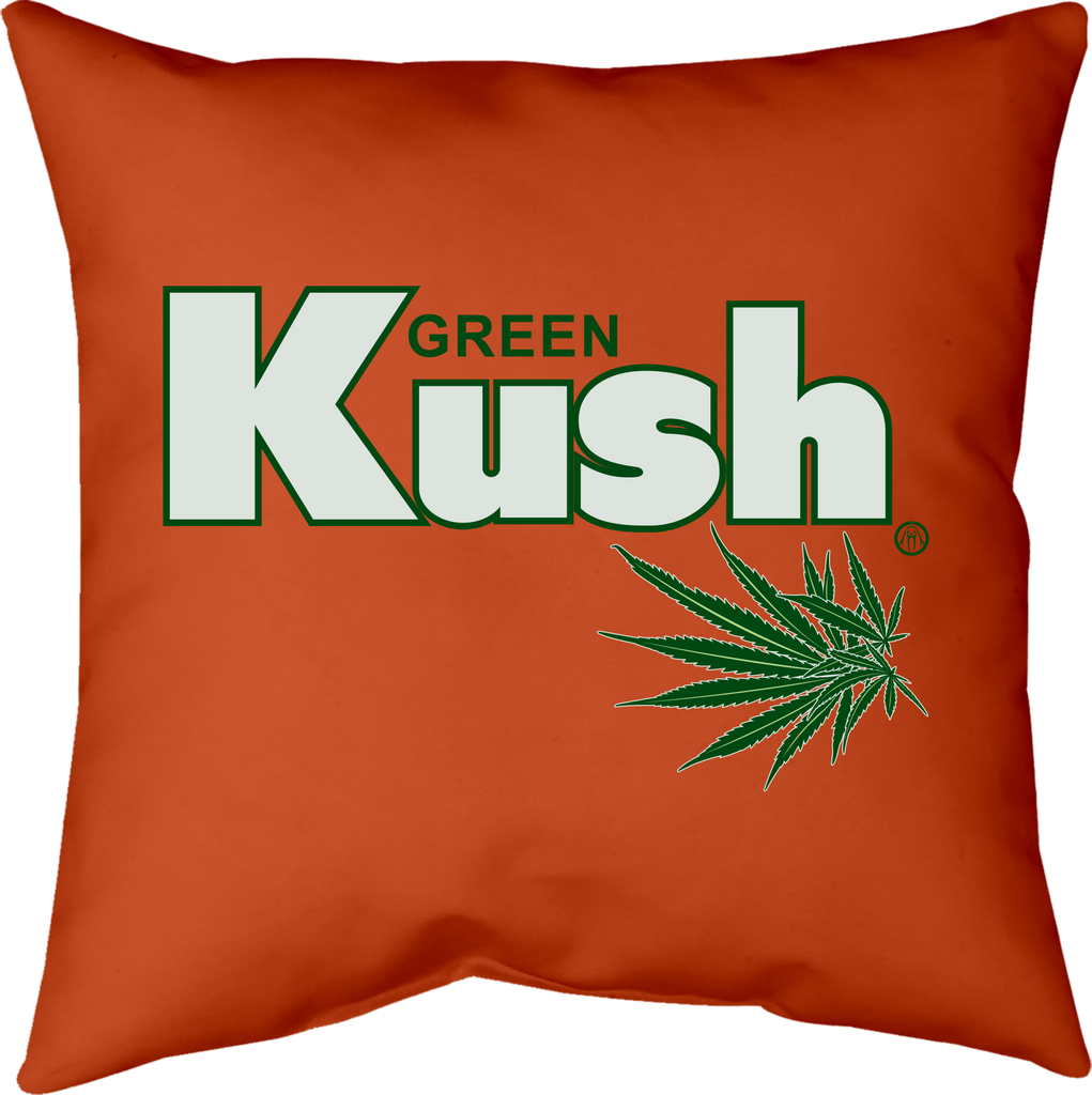 MWW - Green Kush Orange Pillow Cover by Upper Playground