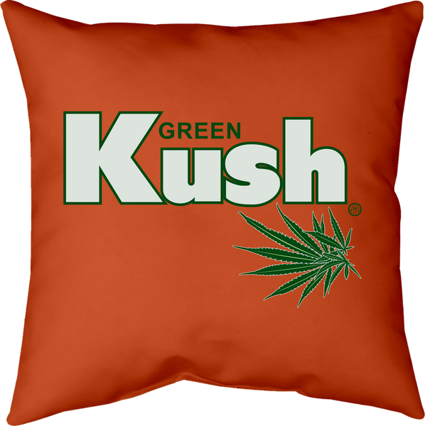 MWW - Green Kush Red Pillow by Upper Playground