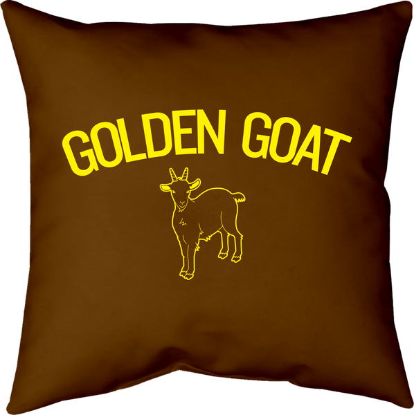 MWW - Golden Goat Pillow by Upper Playground