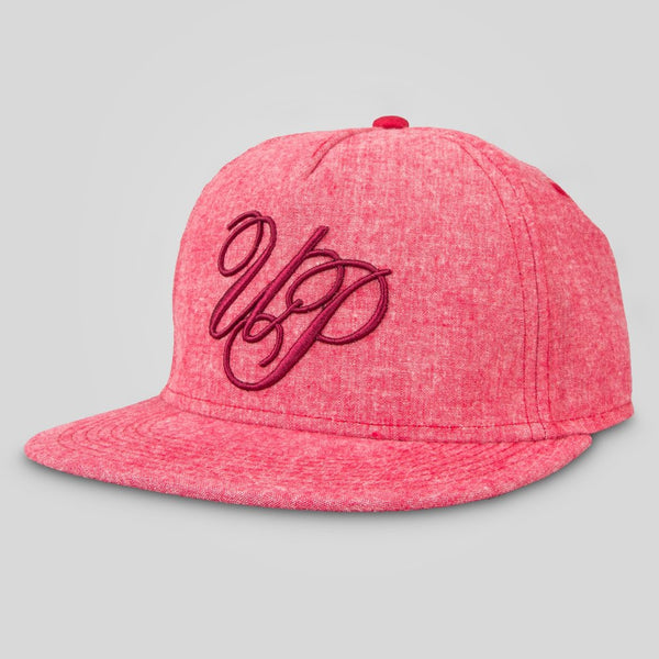 Upper Playground - Lux - Scriptic Snapback in Red Chambray