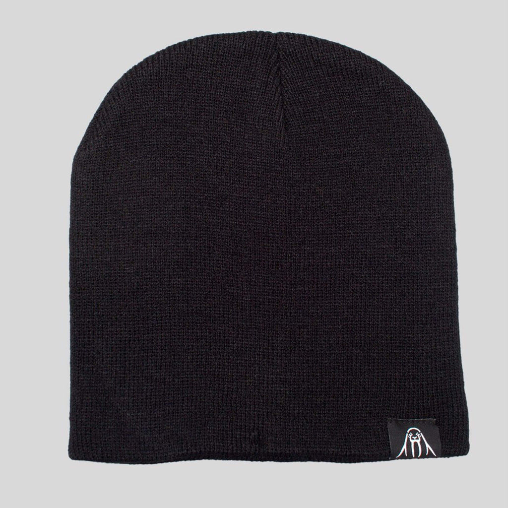 Upper Playground - Lux - Walrus Label Beanie in Black