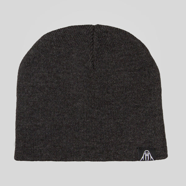 Upper Playground - Walrus Label Beanie in Charcoal