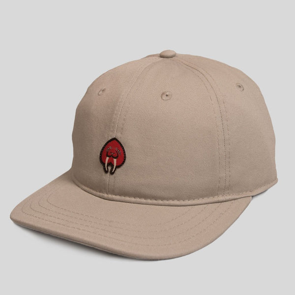 Upper Playground - Lux - Walrus Love Dad Hat in Khaki by Jeremy Fish