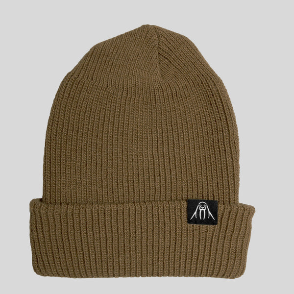 Upper Playground - Lux - Walrus Cuff Beanie in Coyote Brown