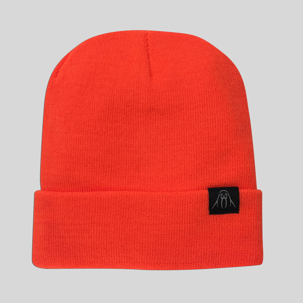Upper Playground - Lux - The Watch Cap Cuff Beanie in Safety Orange