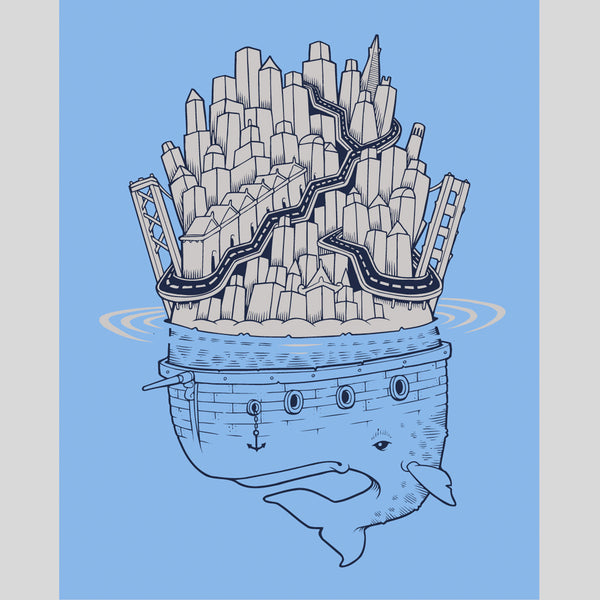 superfishal - Whale Island Print by Jeremy Fish