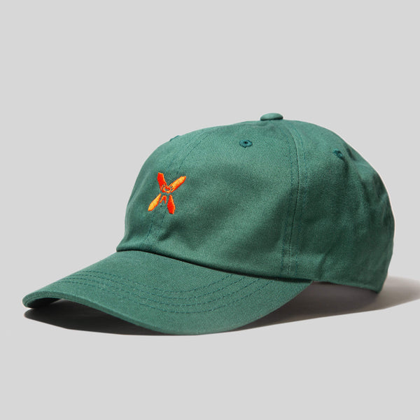 Upper Playground - Lux - NEW! X-Eyes Front Dad Hat in Forest Green