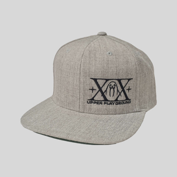 Upper Playground - Lux - XX Logo Snapback in Black/Heather