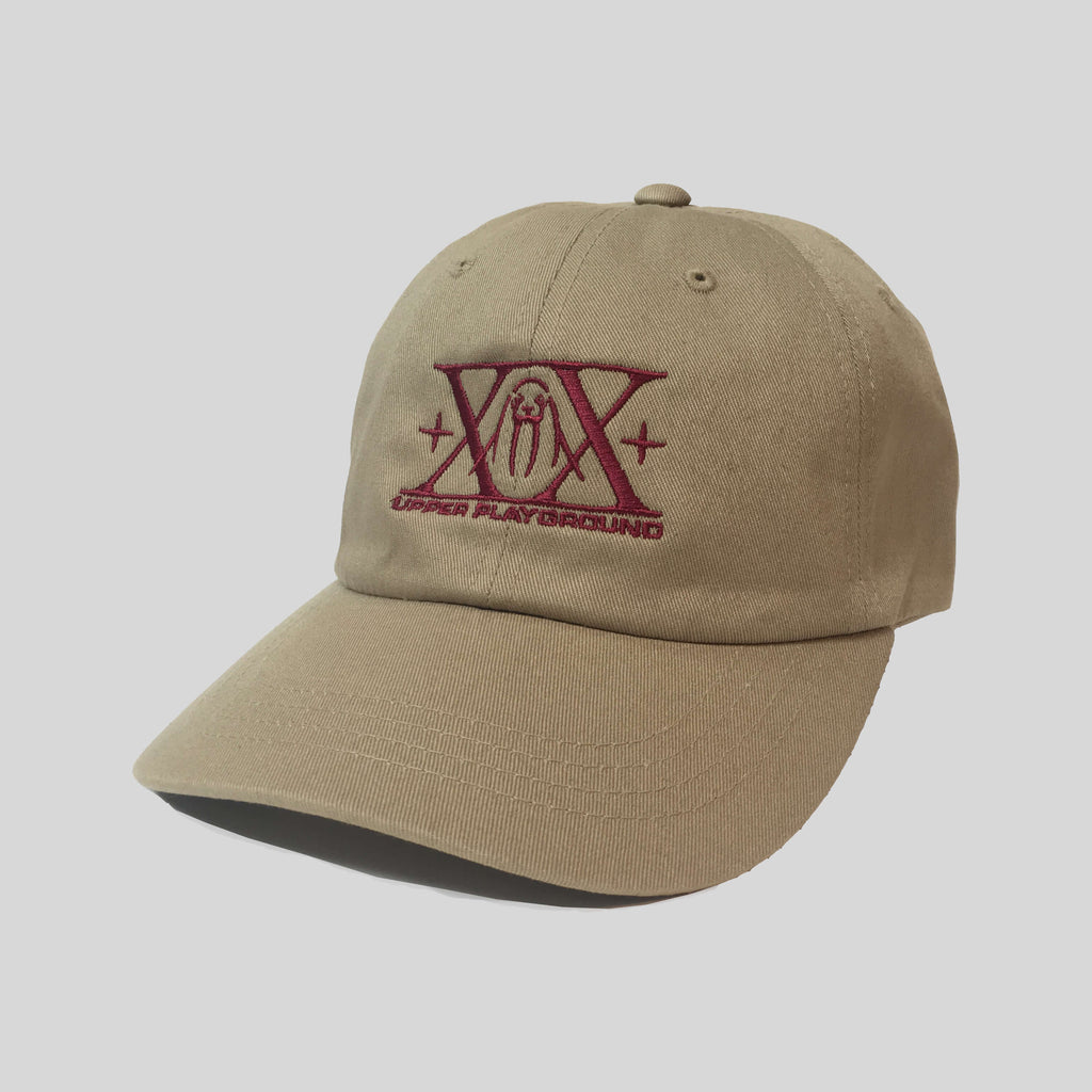 Upper Playground - Lux - XX 20th Anniversary Dad Hat in Maroon/Khaki