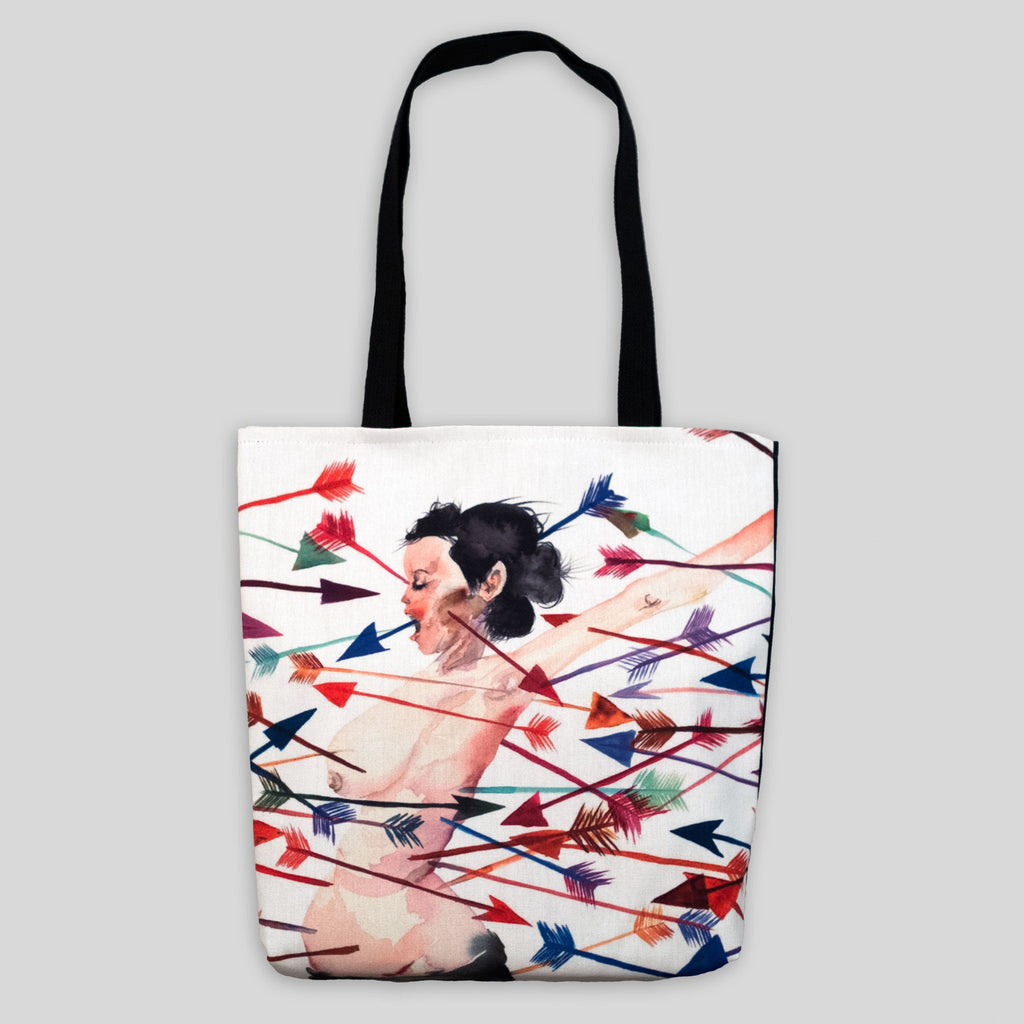 David Choe - No Matter How Hard I Try I Still Can't Give You What You Want Tote by David Choe