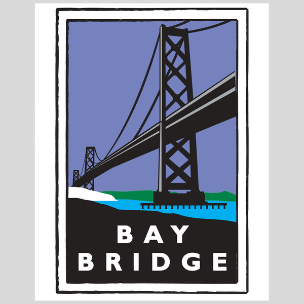 Upper Playground - Bay Bridge Print by Dustin Canalin