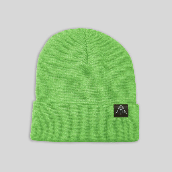 Upper Playground - Lux - The Watch Cap Cuff Beanie in Neon Green