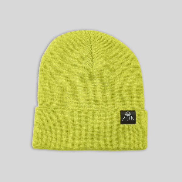 Upper Playground - Lux - The Watch Cap Cuff Beanie in Neon Yellow