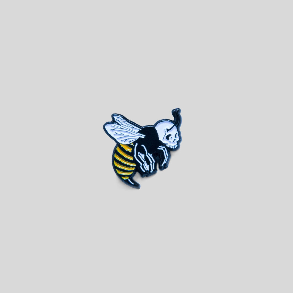 Upper Playground - Lux - Skull Bee Pin by Jeremy Fish
