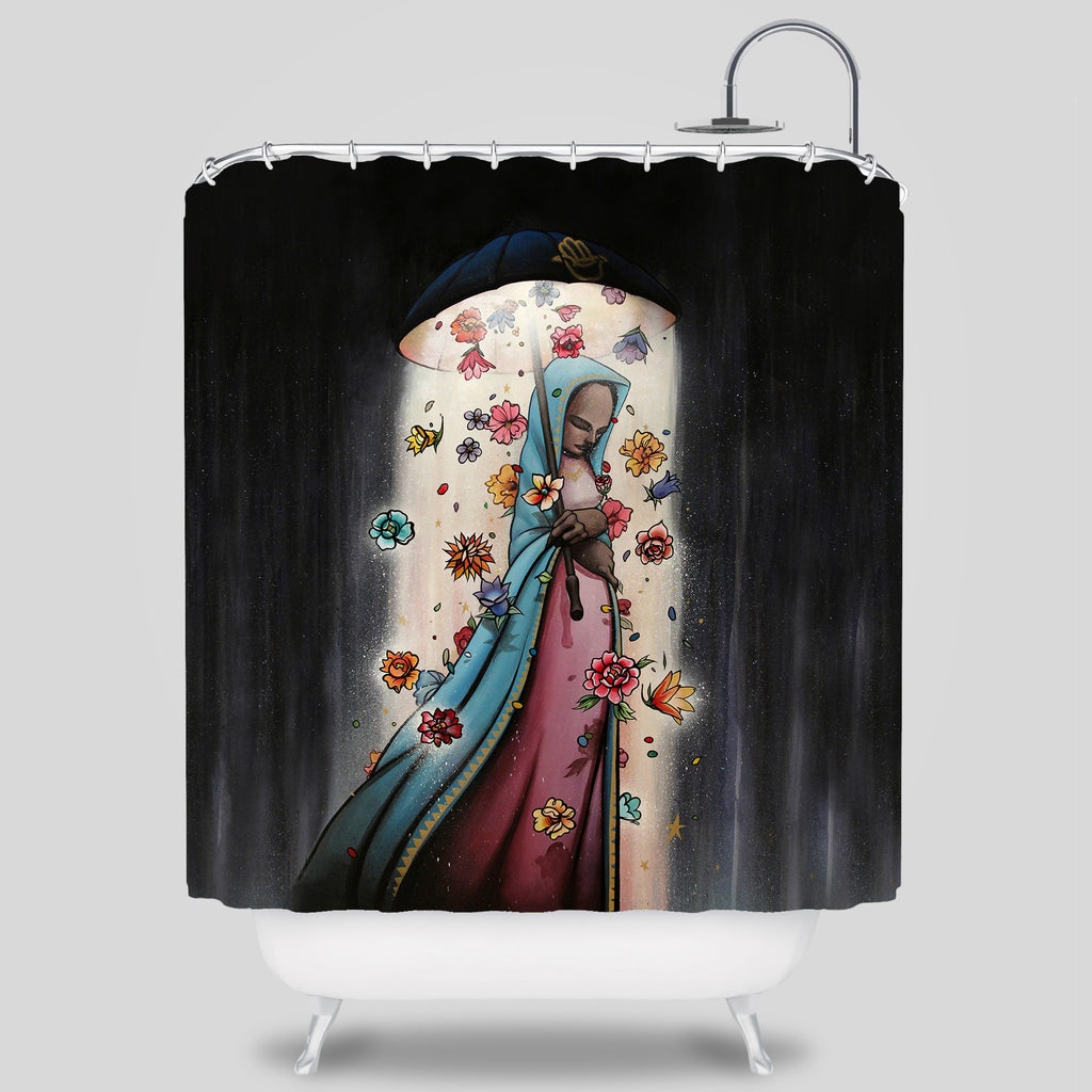 MWW - Brella Shower Curtain by Sam Flores