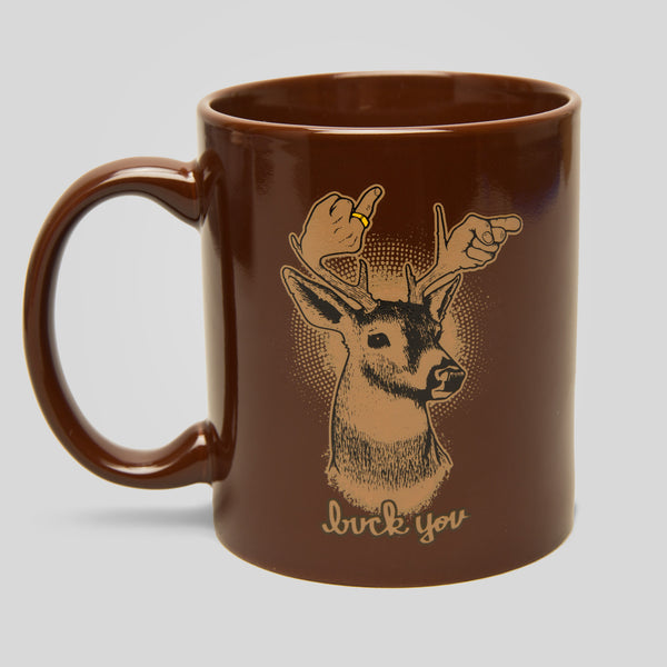 Upper Playground - Lux - Buck You Mug by Jeremy Fish