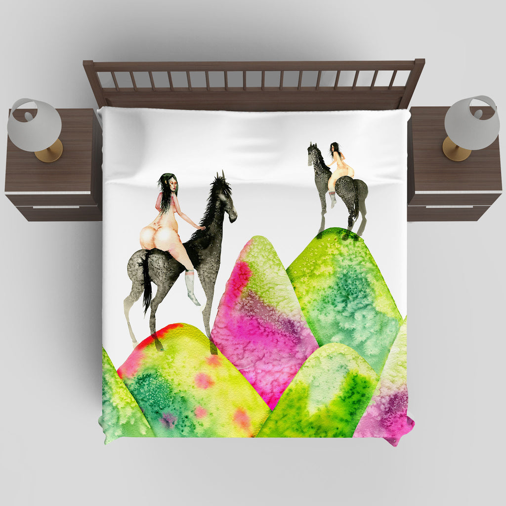 David Choe - Mounds Duvet Cover by David Choe