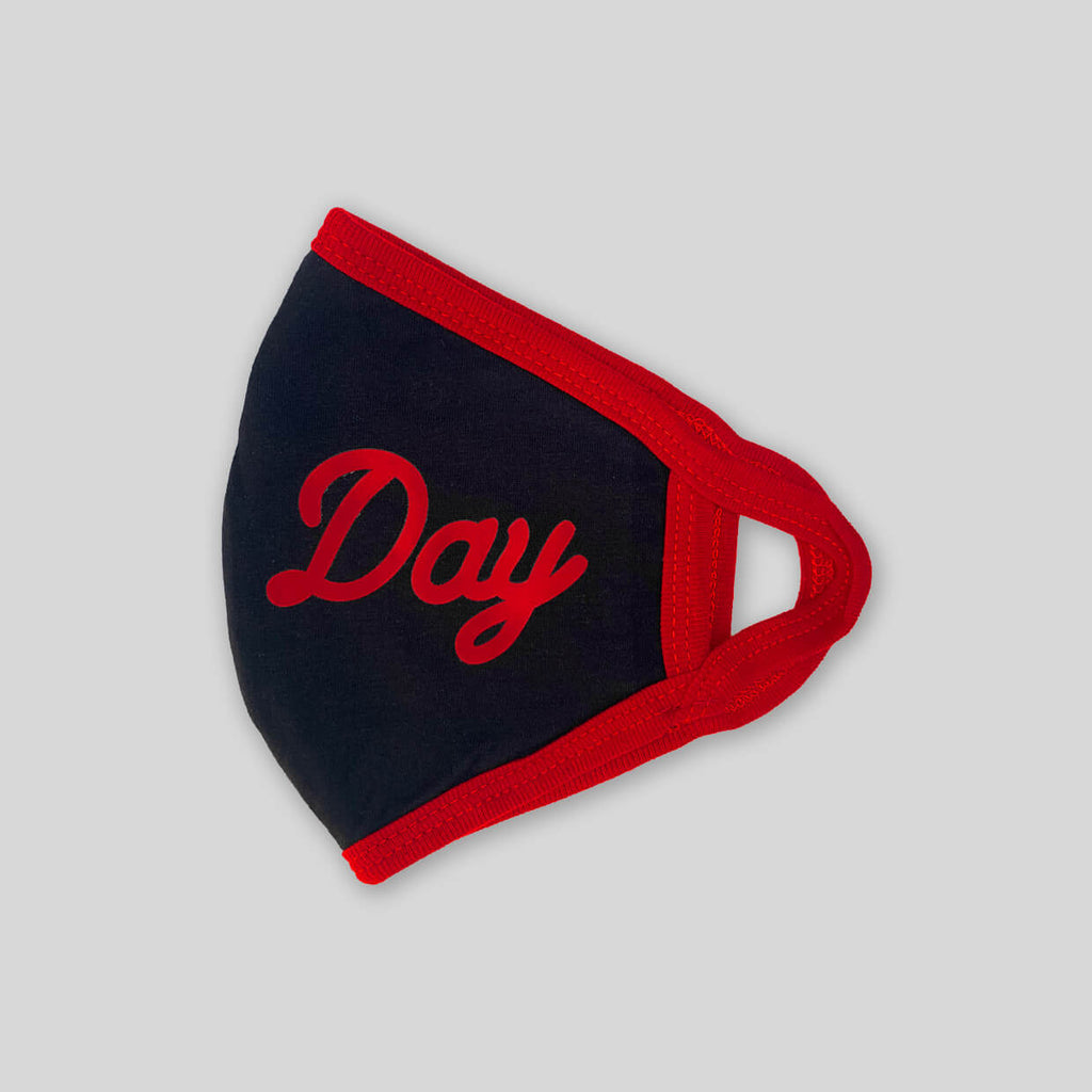Upper Playground - Lux - NEW! -  ALL DAY IN BLACK/RED 4 PLY COTTON FACE MASK