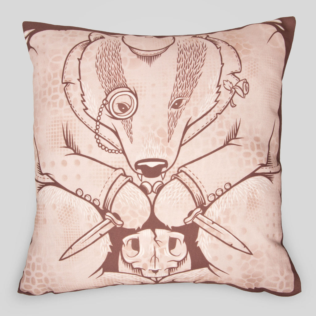 MWW - The Badgers Pillow Cover by Jeremy Fish