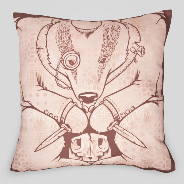 Upper Playground - The Badgers Pillow by Jeremy Fish