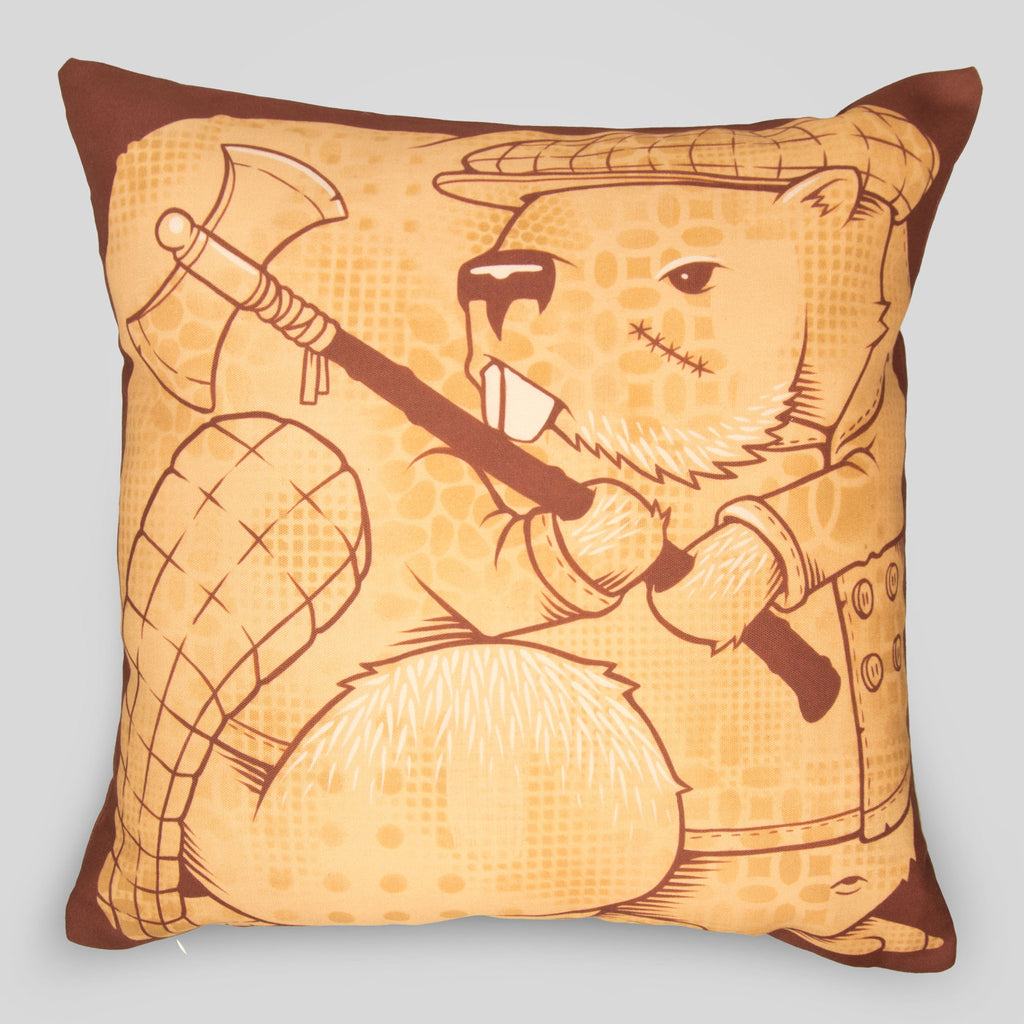 MWW - The Beavers Pillow Cover by Jeremy Fish