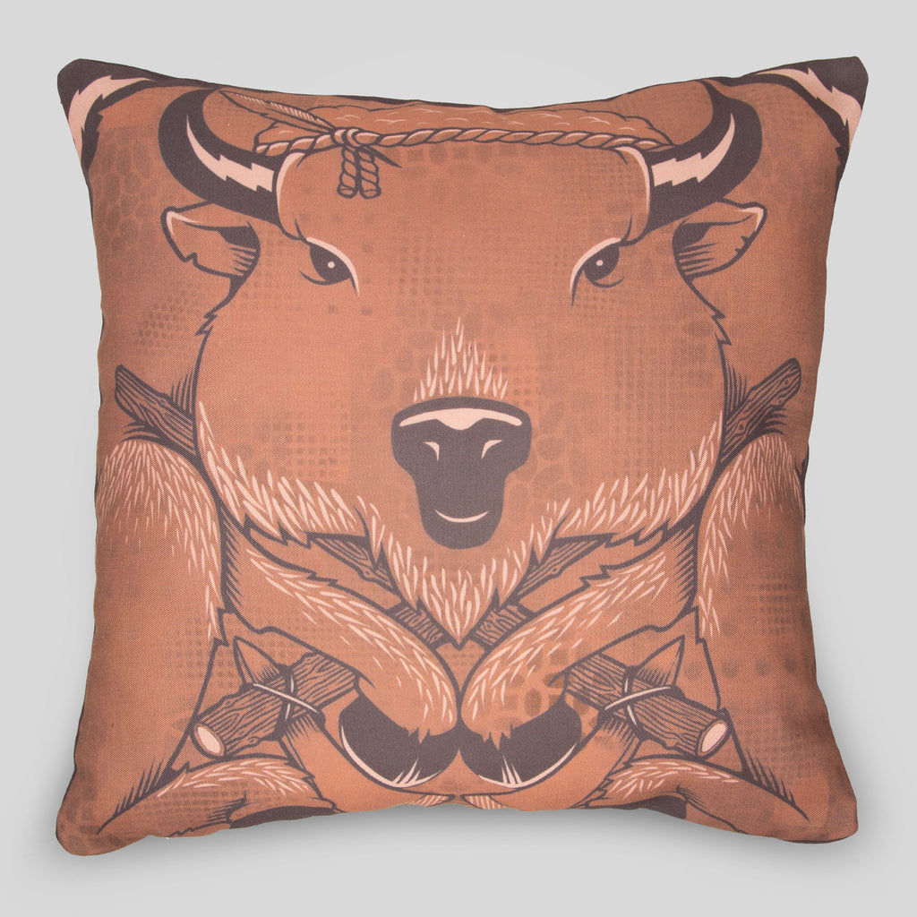 MWW - The Bison Pillow Cover by Jeremy Fish