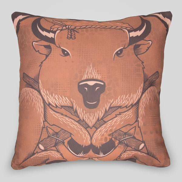 Upper Playground - The Bison Pillow by Jeremy Fish