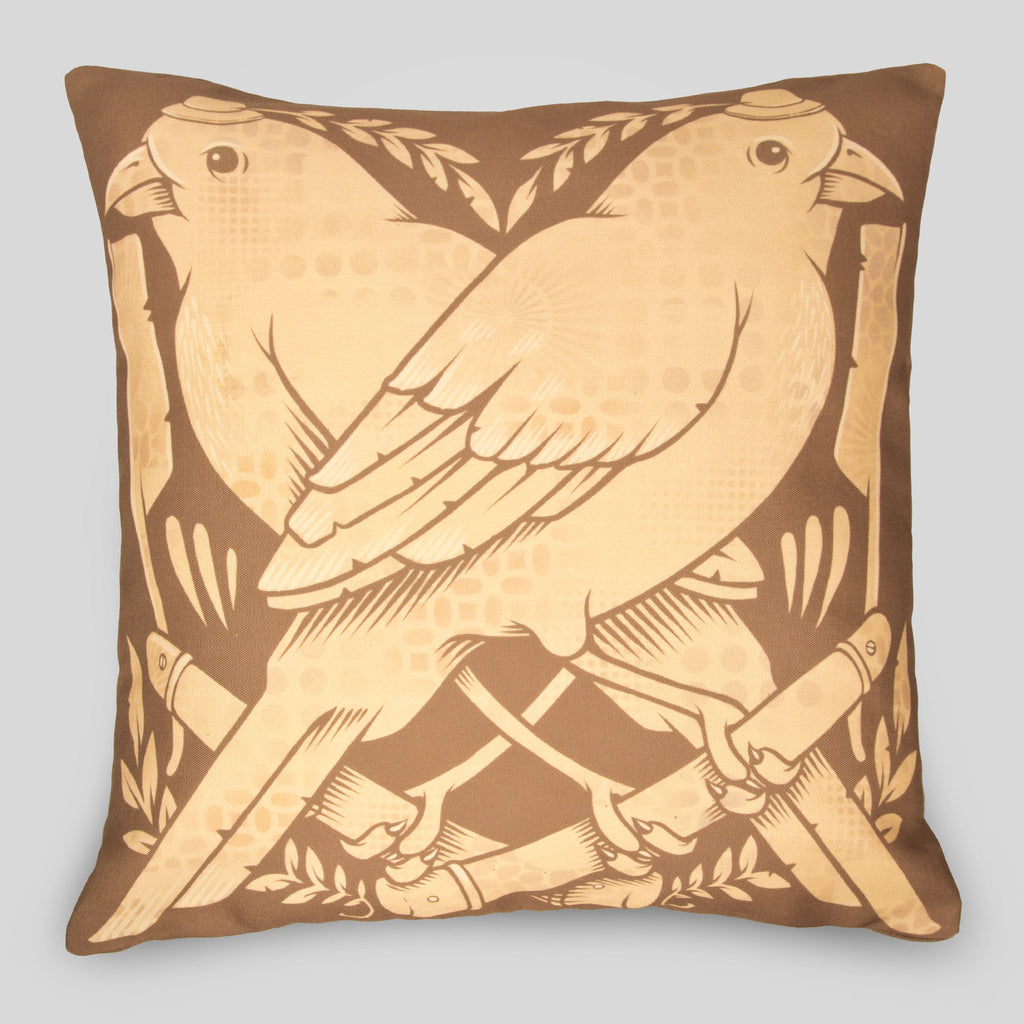 MWW - The Finches Pillow by Jeremy Fish