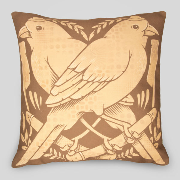 Upper Playground - The Finches Pillow by Jeremy Fish