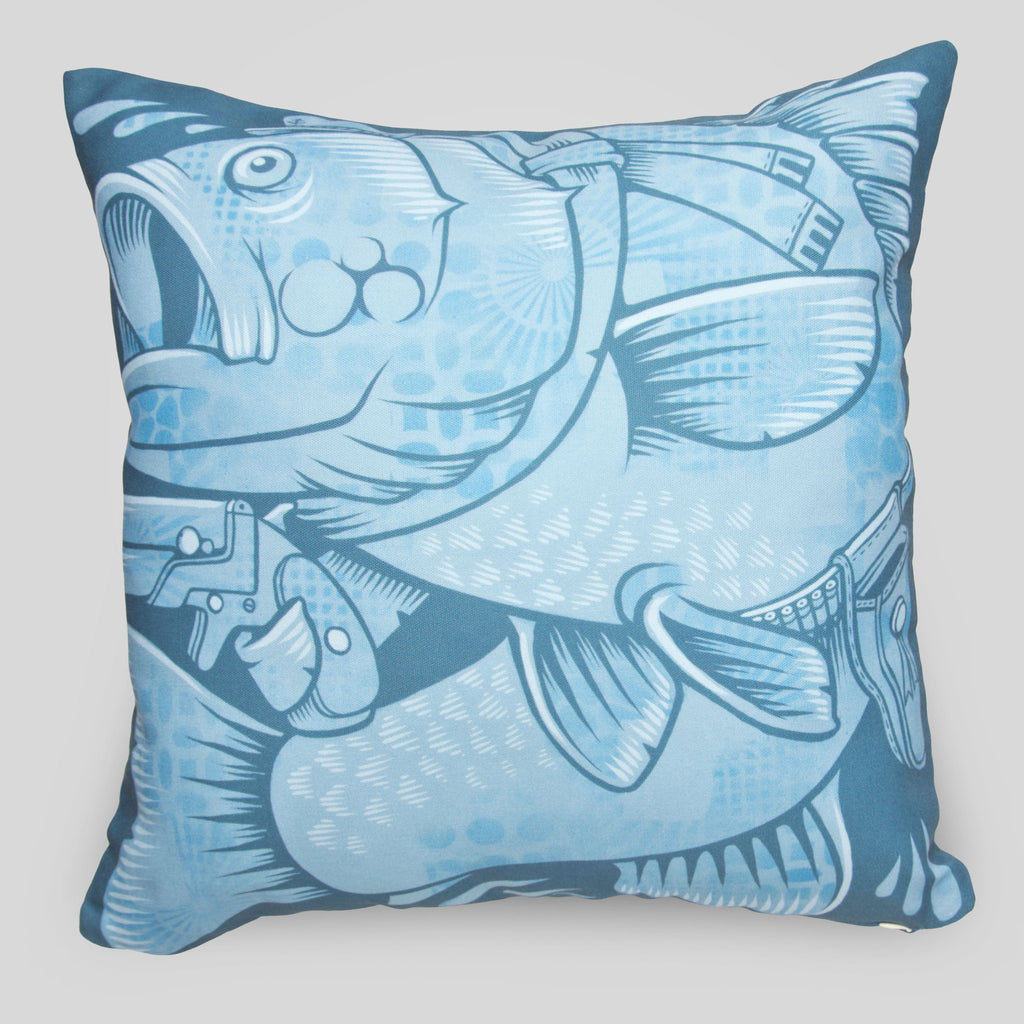 Upper Playground - The Fishes Pillow by Jeremy Fish