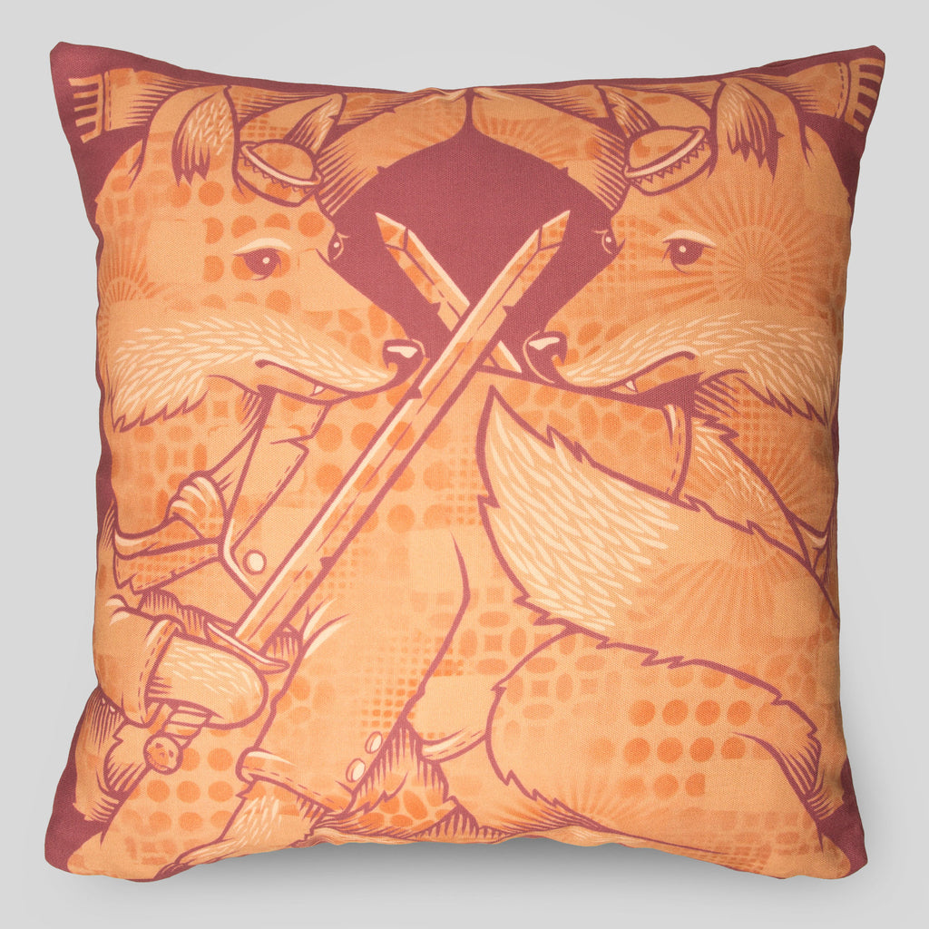 MWW - The Foxes Pillow by Jeremy Fish