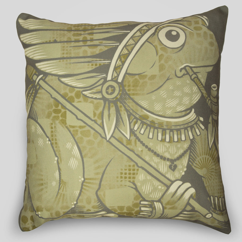 MWW - The Frogs Pillow by Jeremy Fish