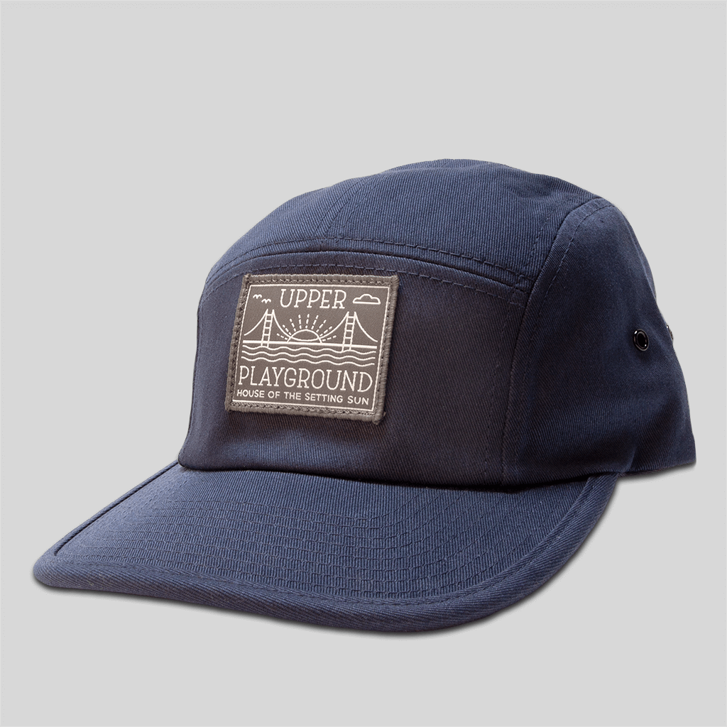 d46435cca4b Upper Playground - Lux - House of the Setting Sun 5-Panel Cap in Navy