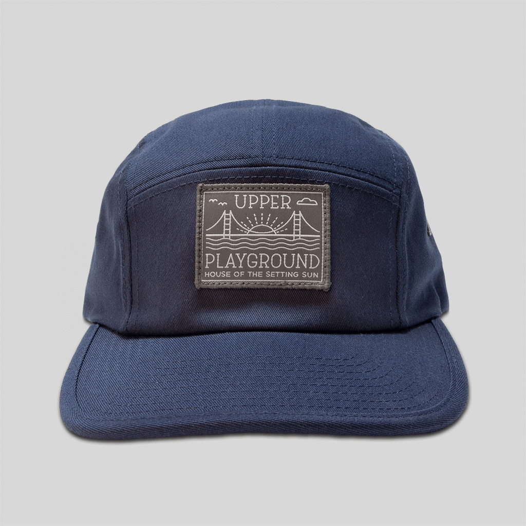 Upper Playground - Lux - House of the Setting Sun 5-Panel Cap in Navy