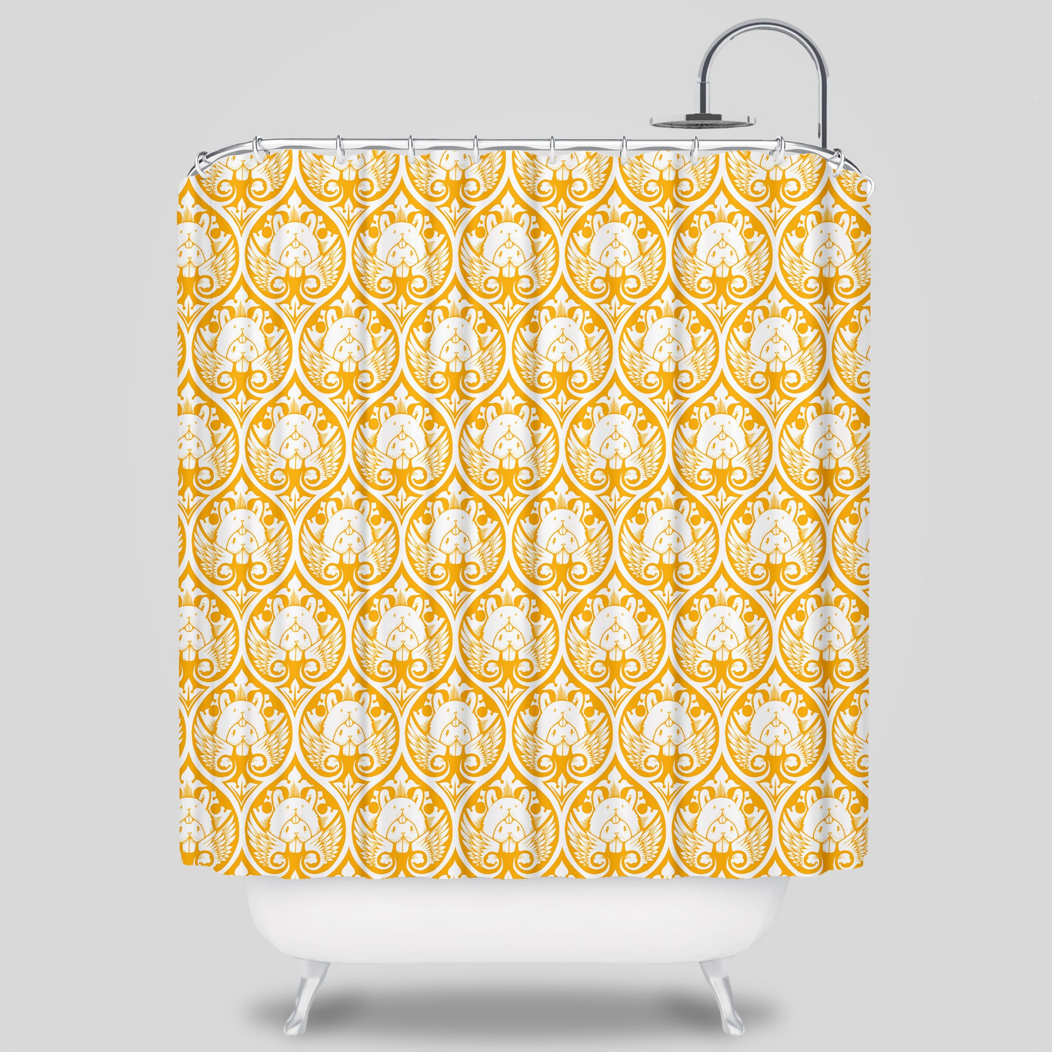 Bunny Wings Shower Curtain By Jeremy Fish