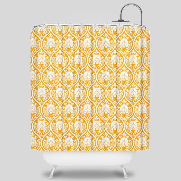 Upper Playground - Bunny Wings Shower Curtain by Jeremy Fish