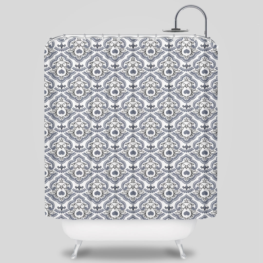 Upper Playground - Fowl Mood Shower Curtain by Jeremy Fish