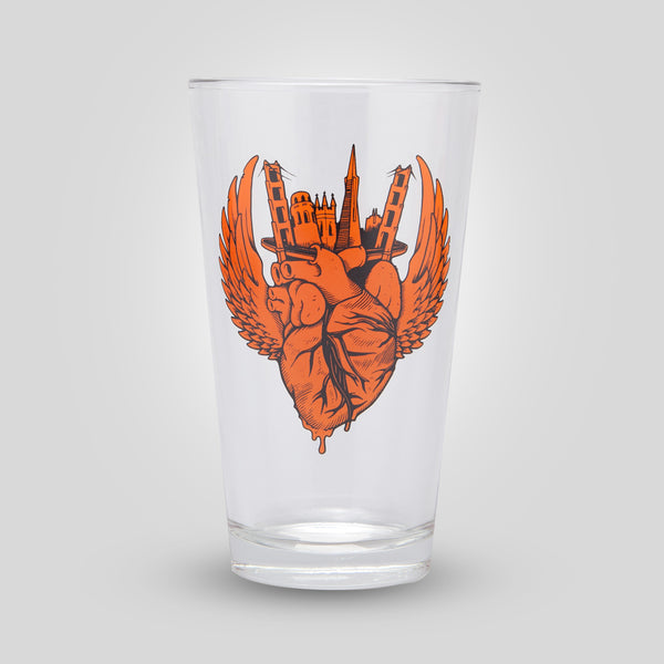 Upper Playground - Lux - I Left My Heart Pint Glass