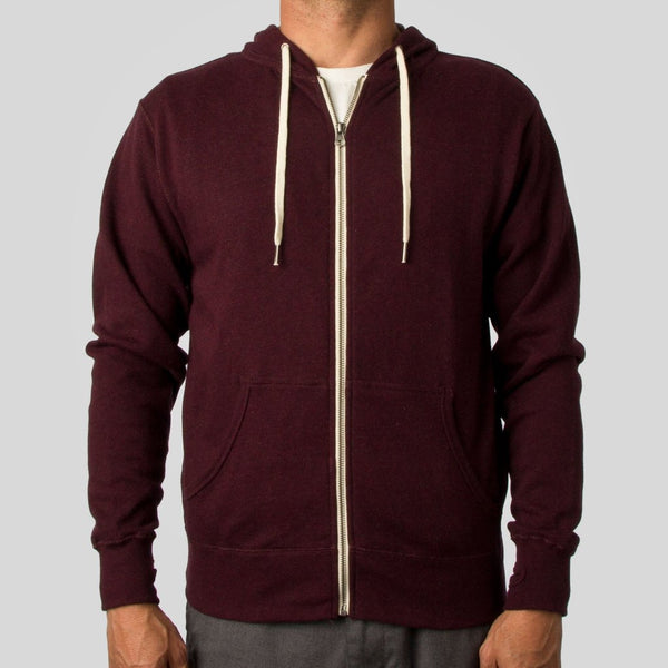 Upper Playground - Lux - SIDE LABEL ZIP HOODIE IN CARDINAL