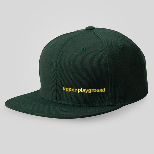 Upper Playground - Lux - LOGO BAR SNAPBACK IN FOREST GREEN