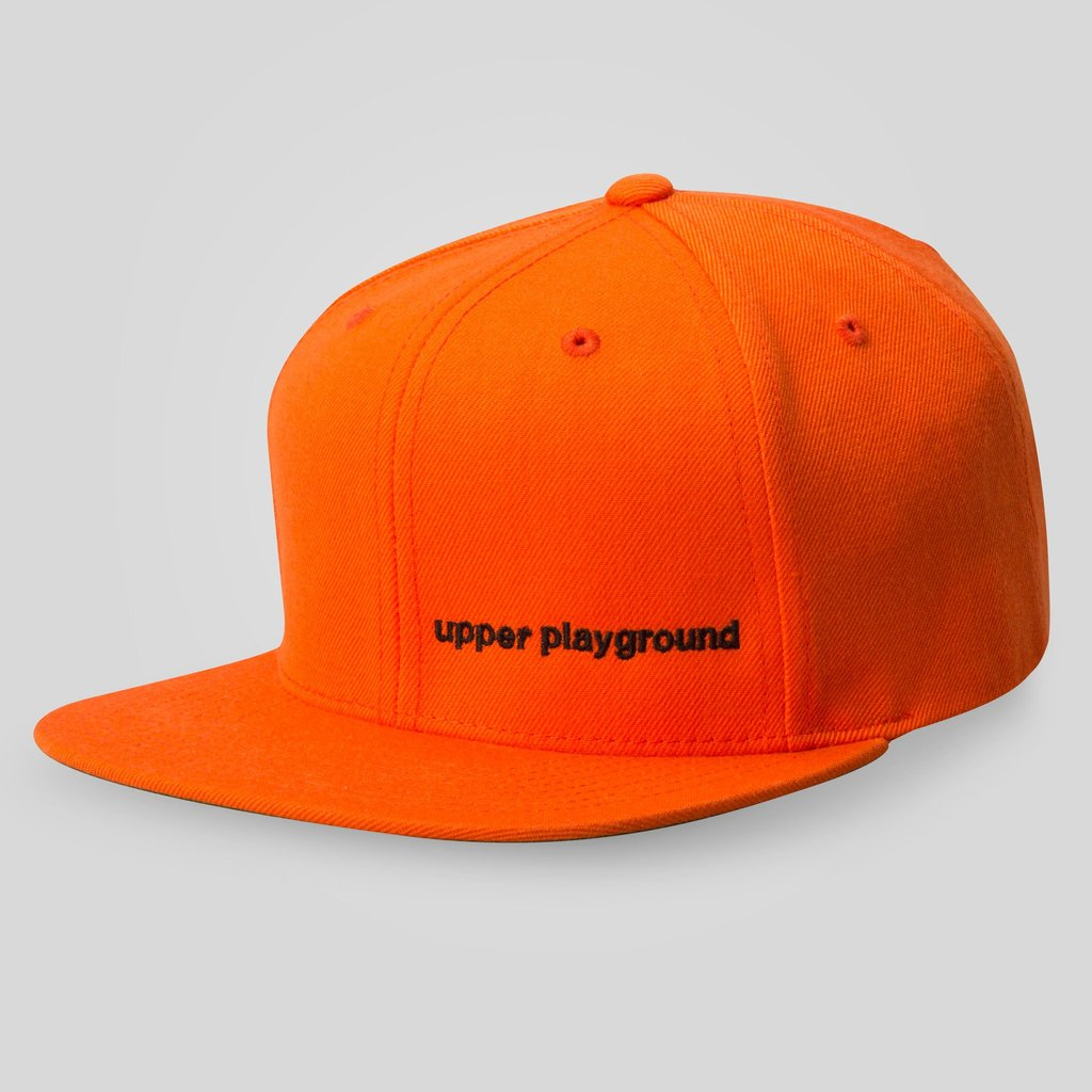 Upper Playground - Lux - LOGO BAR SNAPBACK IN ORANGE