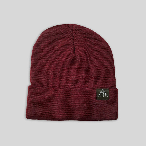 Upper Playground - Lux - The Watch Cap Cuff Beanie in Maroon