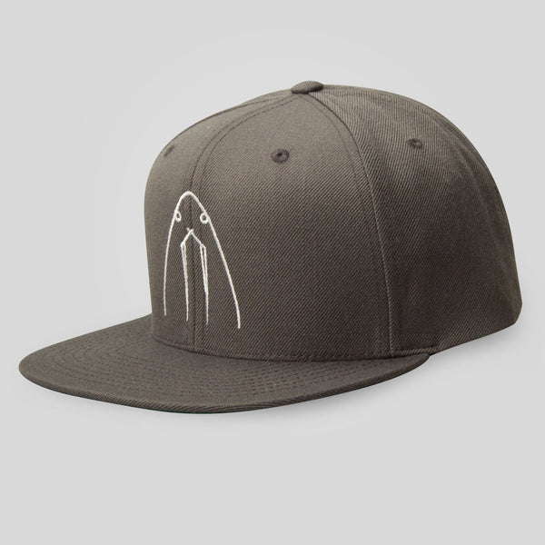 Upper Playground - La Morsa Snapback in Charcoal by Herbert Baglione