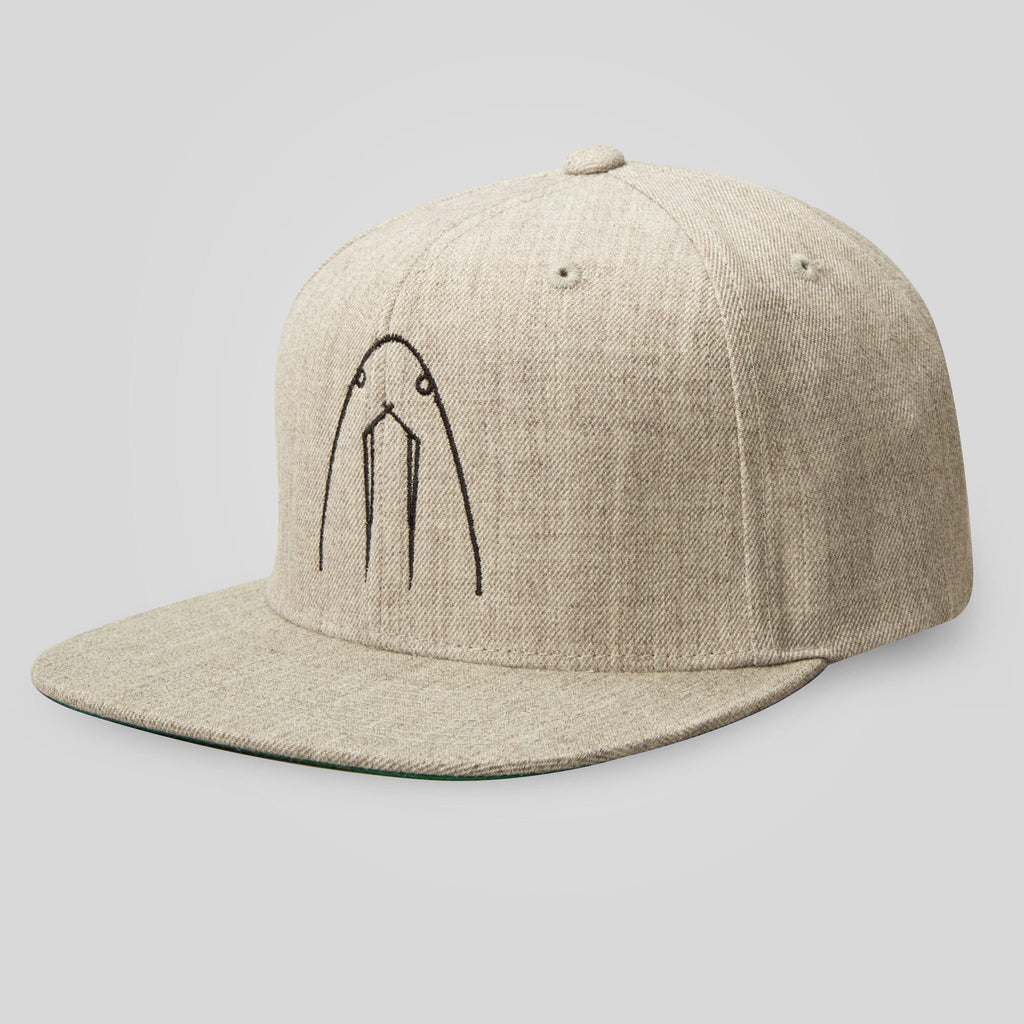 Upper Playground - La Morsa Snapback in Heather by Herbert Baglione