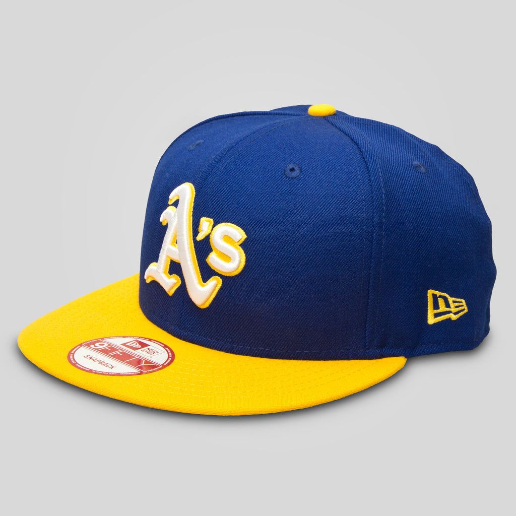 Upper Playground - Lux - Oakland A's New Era Snapback in Royal / Gold